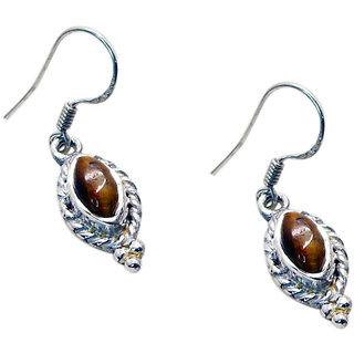 Riyo Tiger Eye Silver And Stone Jewelry Gemstone Jewellery L 1in Setey-80001