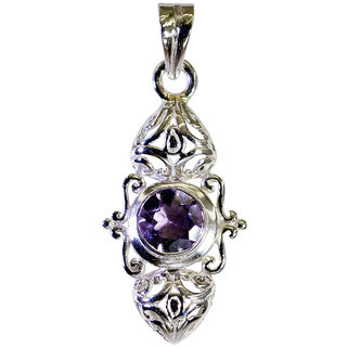 Riyo Amethyst Silver Jewellery Wholesalers Engagement Pendants L 1.5in Spame-2066