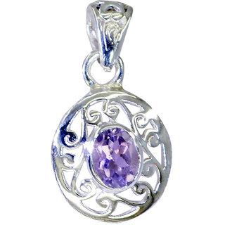 Riyo Amethyst Silver Jewelry Artists Fleur De Lis Pendant L 1.2in Spame-2072