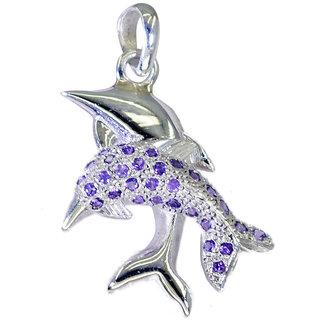 Riyo Amethyst Silver Jewelry Distributors Love Knot Pendant L 1.5in Spame-2088