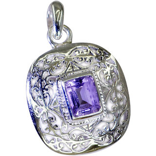 Riyo Amethyst Silver Jewelry India Cuff Pendant L 1.5in Spame-2096