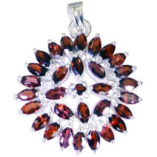 Riyo Garnet Personalized Silver Moms Ariel Pendants L 1.3in Spgar-26114