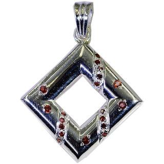 Riyo Garnet Real Silver Jewellery Chandelier Pendants L 1.1in Spgar-26121