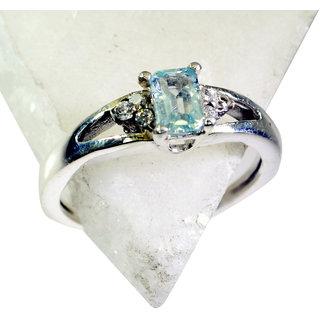 Riyo Blue Topaz Online Silver Jewellery Gimmal Ring Sz 7 Srbto7-10059