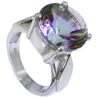 Riyo Mystic Quartz Silver Forest Jewelry Wholesale Chunky Silver Ring Sz 6.5 Srmqu6.5-54007