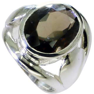 Riyo Smoky Quartz Southwest Silver Jewelry Handmade Silver Ring Sz 7 Srsqu7-76035