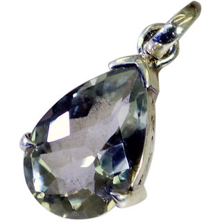 Riyo Green Amethyst Silver Jewellery Sets Party Pendant L 1.2in Spgam-28009