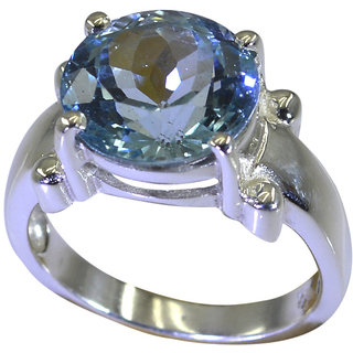 Riyo A Blue Topaz 925 Solid Sterling Silver High Performance Ring Srbto80-10110