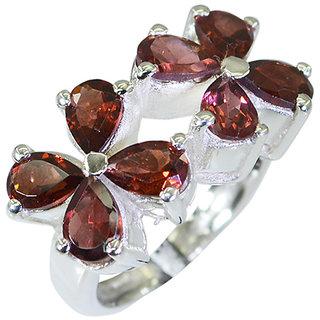 Riyo Garnet Silver Stamped Jewellery Silver Engagement Ring Sz 5.5 Srgar5.5-26016