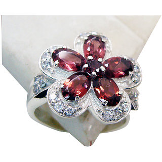 Riyo Garnet Cool Silver Jewellery Cocktail Ring Sz 7 Srgar7-26153