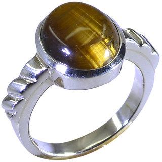 Riyo Brown Tiger Eye 925 Solid Sterling Silver Casual Ring Srtey70-80008