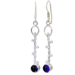 Riyo Amethyst German Silver Jewellery Celebrity Earring L 2in Seame-2007
