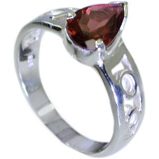 Riyo Garnet Tribal Silver Jewellery Silver Spiral Ring Sz 6.5 Srgar6.5-26047