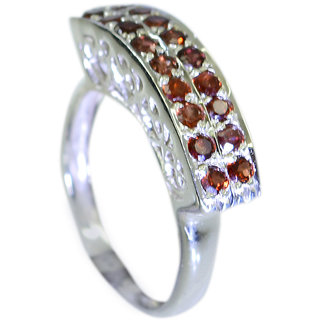 Riyo Garnet Unique Handmade Jewellery Silver Star Ring Sz 6.5 Srgar6.5-26050