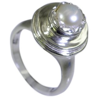 Riyo Pearl Silver Jewellery Wholesale Silver Twist Ring Sz 7 Srpea7-56017