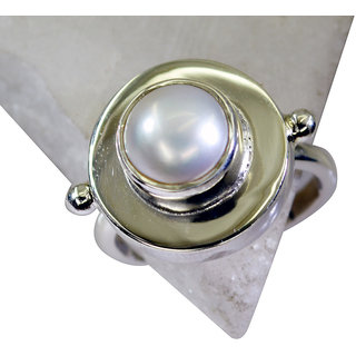 Riyo Pearl Silver Jewellery Shops Silver Ring Wholesale Sz 8 Srpea8-56007