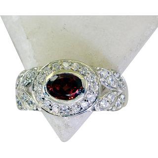 Riyo Garnet Fake Silver Jewelry Personalized Silver Ring Sz 8 Srgar8-26181