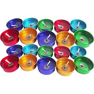 Peepalcomm Tlight Candle(Multicolor, Pack of 20)