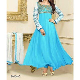 Prerna fashion firozi salwar suit dress materials....