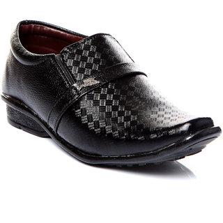 Trilokani Stylish Formal Kids Shoes (TFC05BLACK)