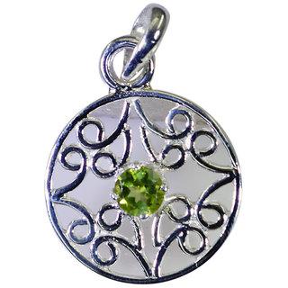 Riyo Peridot Silver Wedding Jewellery Buckle Pendants L 1in Spper-58026
