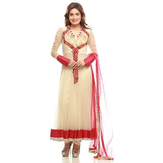 04517412b1 Buy PAISLEY FASHIONS-CREME MAGENTA ANARKALI GOWN Online - Get 49% Off
