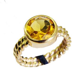 Riyo Citrine Cz 18 Kt Gold Fashion Nice Ring Sz 7 Gprcicz7-94003