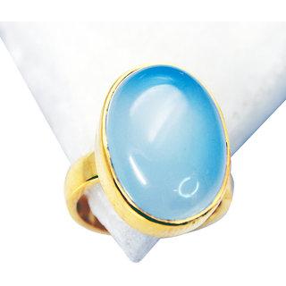 Riyo Blue Chalcedony 18k Y.G. Plated Regards Ring Jewelry Sz 5 Gprbch5-8004