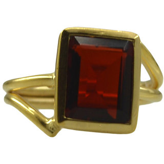 Riyo Red Ruby Cz  18kt Gold Plated Funky Ring Gprrucz55-104047