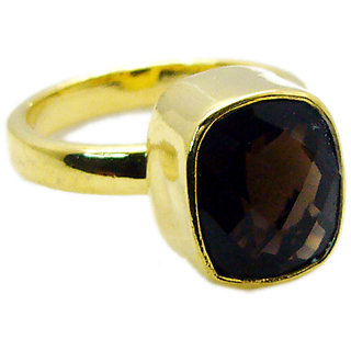 Riyo Smoky Quartz Jewelry Gold Plated Finger Armor Ring Sz 8 Gprsqu8-76055