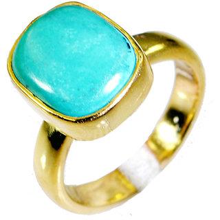 Riyo Turquoise Indian Gold Plate Thumb Ring Sz 6 Gprtur6-82021