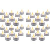 Peepalcomm LED Tea Light Candle(Yellow, Pack Of 40)