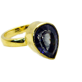 Riyo Blue Mystic Quartz 18kt Y Gold Plating Wedding Bands Sz 8 Gprbmq8-55014
