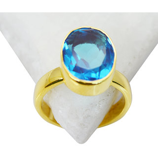 Riyo Blue Topaz Cz Plated Gold Jewelry Purity Ring Jewelry Sz 7 Gprbtcz7-92046