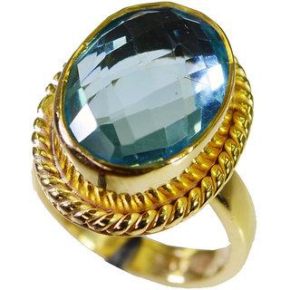 Riyo Blue Topaz Cz Jewellery Gold Plated Class Ring Sz 7 Gprbtcz7-92058