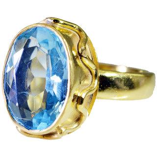 Riyo Blue Topaz Cz Wholesale Gold Plate Ecclesiastical Ring Sz 7 Gprbtcz7-92060