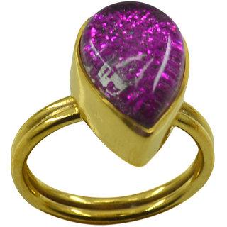Riyo  Dichroic Glass  18kt Gold Plated Glamorous Ring Gprdgl70-22020