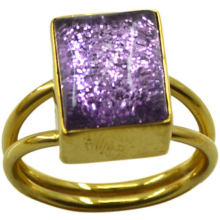 Riyo  Dichroic Glass  18kt Gold Plated Glittering Ring Gprdgl70-22021