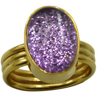Riyo  Dichroic Glass  18kt Gold Plated Glitzy Ring Gprdgl70-22024