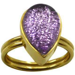Riyo  Dichroic Glass  18kt Gold Plated Gorgeous Ring Gprdgl70-22025