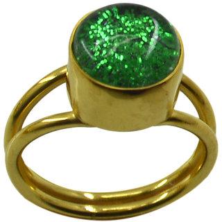 Riyo  Dichroic Glass  18kt Gold Plated Half Priced Ring Gprdgl70-22031