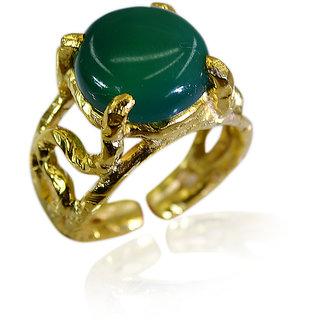 Riyo Green Onyx 18 Ct Ygold Plated Claddagh Ring Sz 6.5 Gprgon6.5-30059