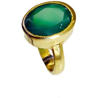 Riyo Green Onyx Gold Polish Sports Ring Sz 6.5 Gprgon6.5-30070
