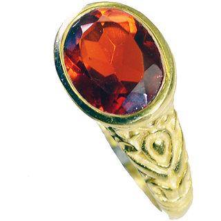 Riyo Ruby Cz 18kt Y.G. Plated Guard Ring Sz 7 Gprrucz7-104045