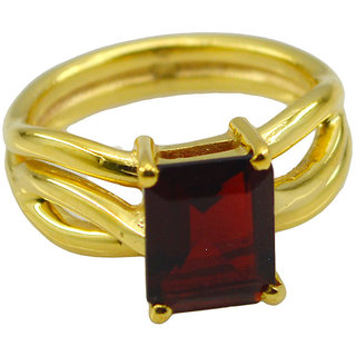 Riyo Red Ruby Cz  18kt Gold Plated Glittering Ring Gprrucz80-104048