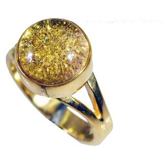 Riyo Sunstone Gold Plated Costume Purity Ring Jewelry Sz 6 Gprsun6-78040