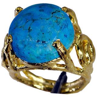 Riyo Turquoise 18.Kt Gold Plating Regards Ring Jewelry Sz 6 Gprtur6-82181