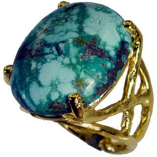 Riyo Turquoise 18kt Gold Platings Sports Ring Sz 6 Gprtur6-82185