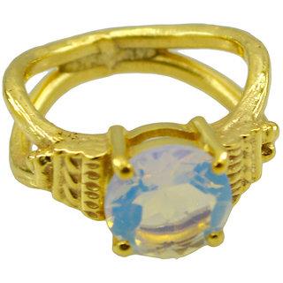 Riyo White Fire Opal Cz  18kt Gold Plated Cutting Edge Ring Gprfocz80-98060
