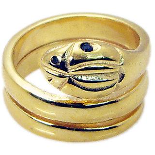 Riyo   Gemstone  18kt Gold Plated Snake Ring Gprsna70-290006